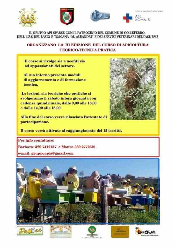 Corso di apicoltura III edizione Colleferro