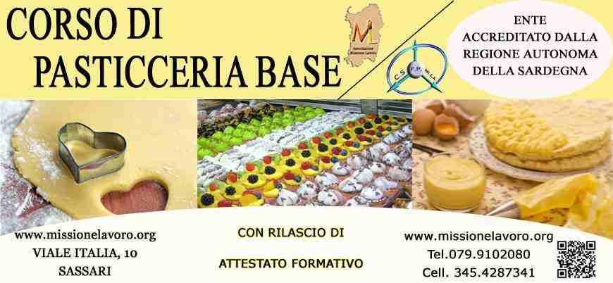 CORSO DI PASTICCERIA BASE/AVANZATO