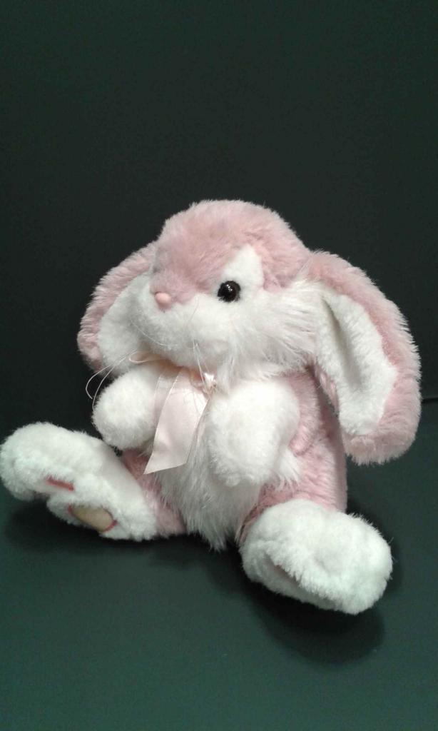 Peluche coniglietta rosa