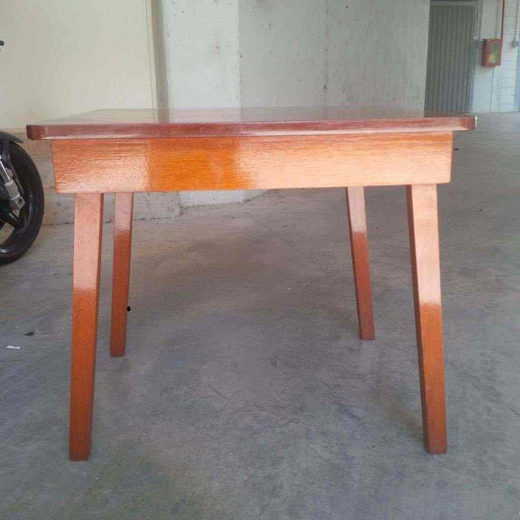 n°2 tavoli in mogano massello da arredo navale