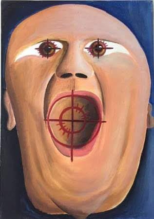 Critica- quadro a olio su tela- De Carolis
