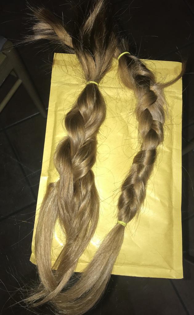 Vendo capelli veri Biondi, lisci , 38 cm