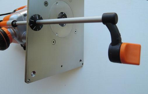 Piastra in acciaio inox CMT7E per banco fresa