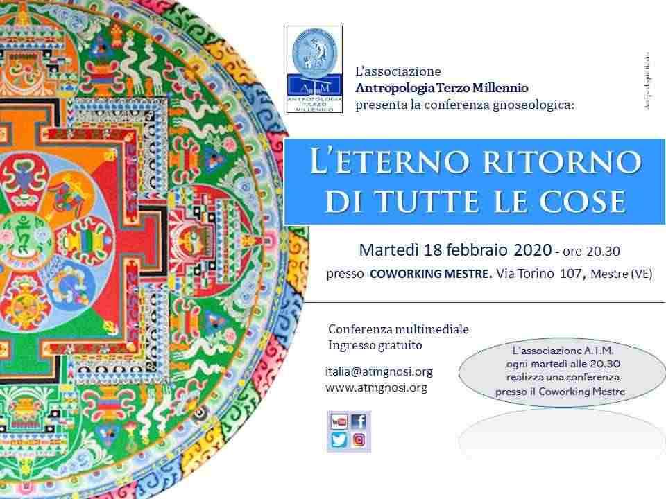 """&quotL'ETERNO RITORNO DI TUTTE LE COSE"""" (conferenza pubblica)"""
