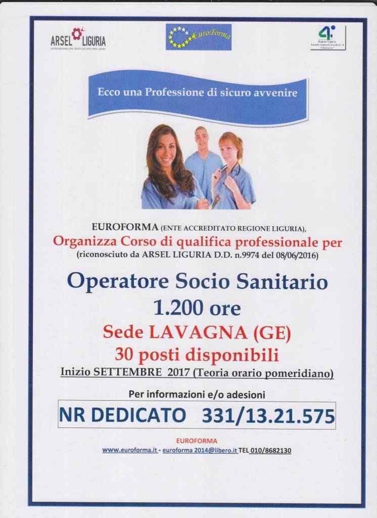 OPERATORE SOCIO SANITARIO SEDI DI GENOVA E LAVAGNA