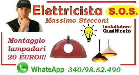 SOSTITUZIONE LAMPADARIO TUSCOLANO APPIO LATINO ROMA