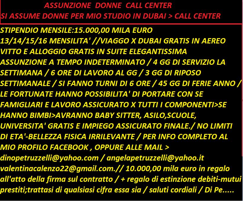 assunzione call center