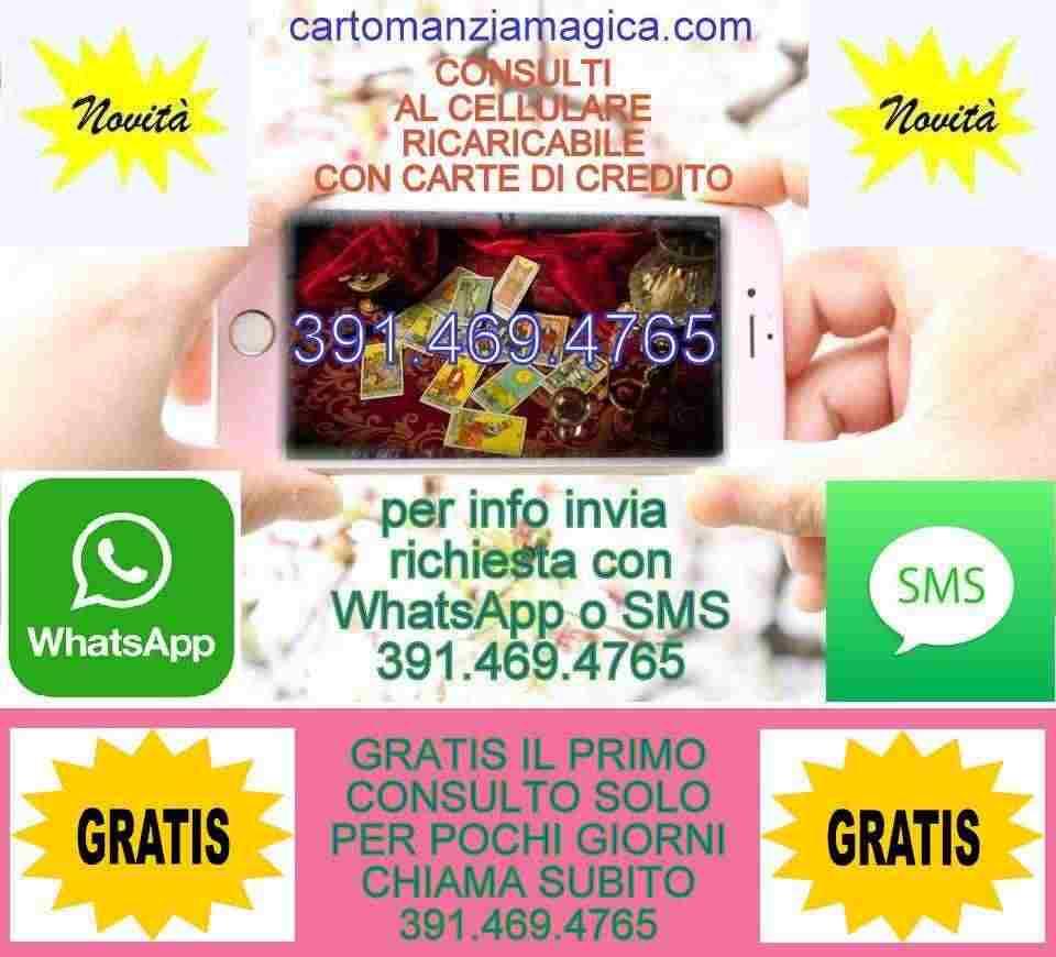 CARTOMANZIAMAGICA TI OFFRE UN MINICONSULTO GRATIS AL CELLULARE 3914694765
