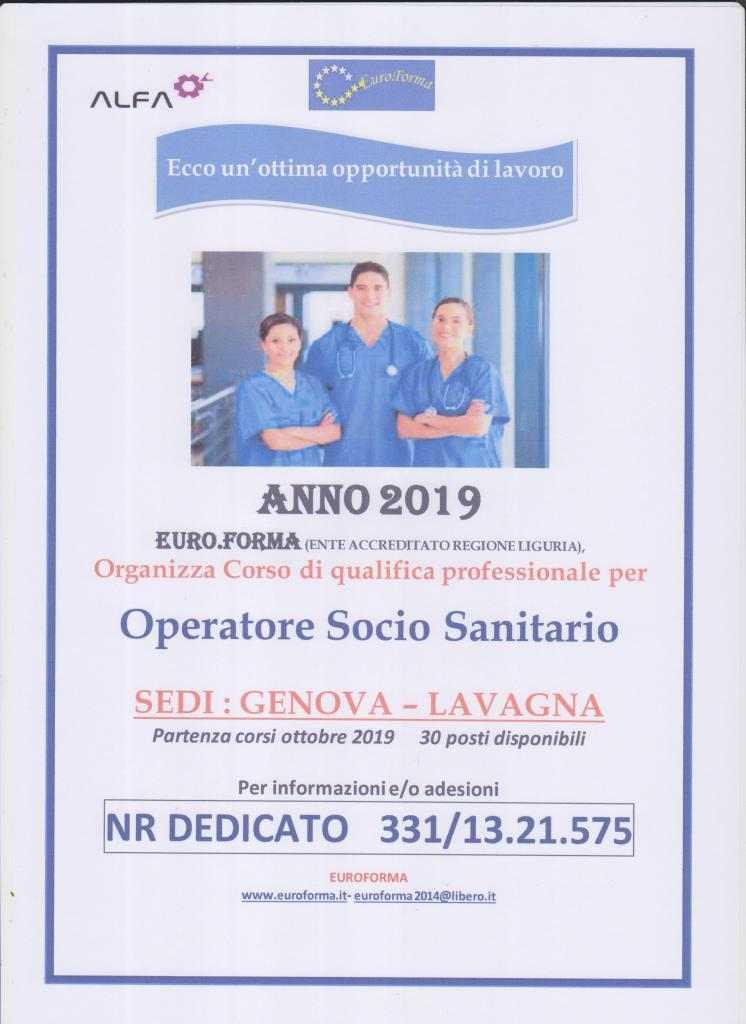 OPERATORE SOCIO SANITARIO 2019