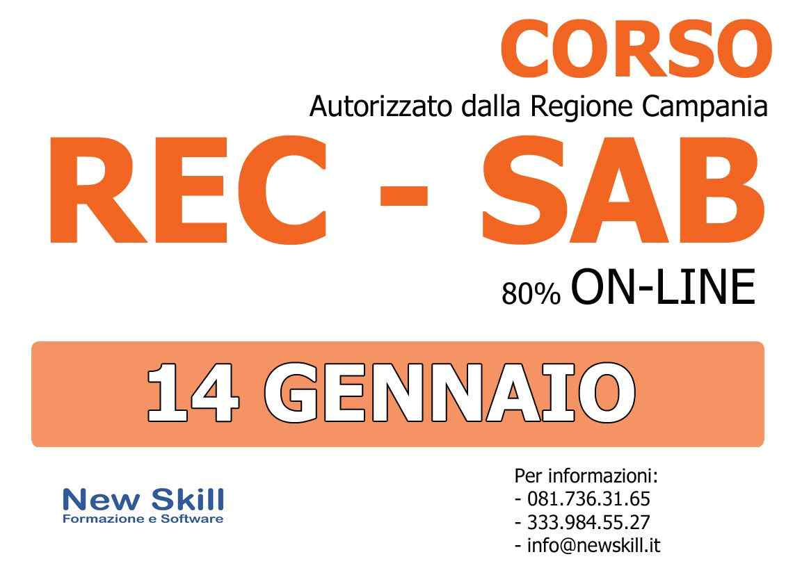 Corso REC - SAB alla New Skill