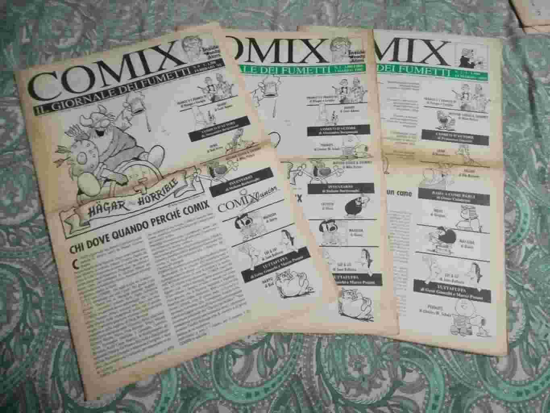 Vendo fumetti COMIX, IL GIORNALE DEI FUMETTI. Anno 1991 al 1994