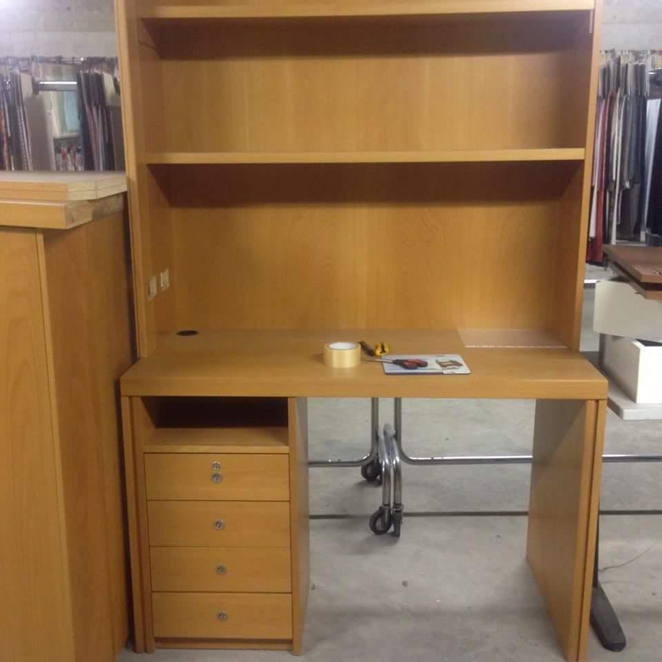 scrivania libreria ciliegio