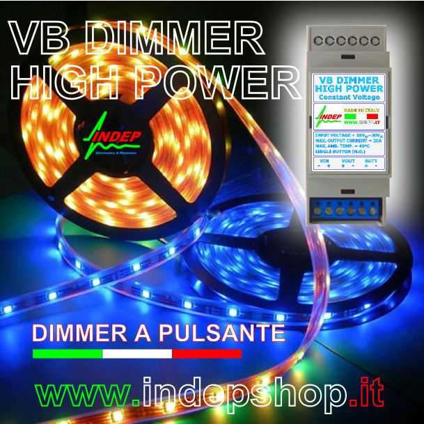 Dimmer strisce led - Alta potenza 20 Ampere 480W - Made in Italy