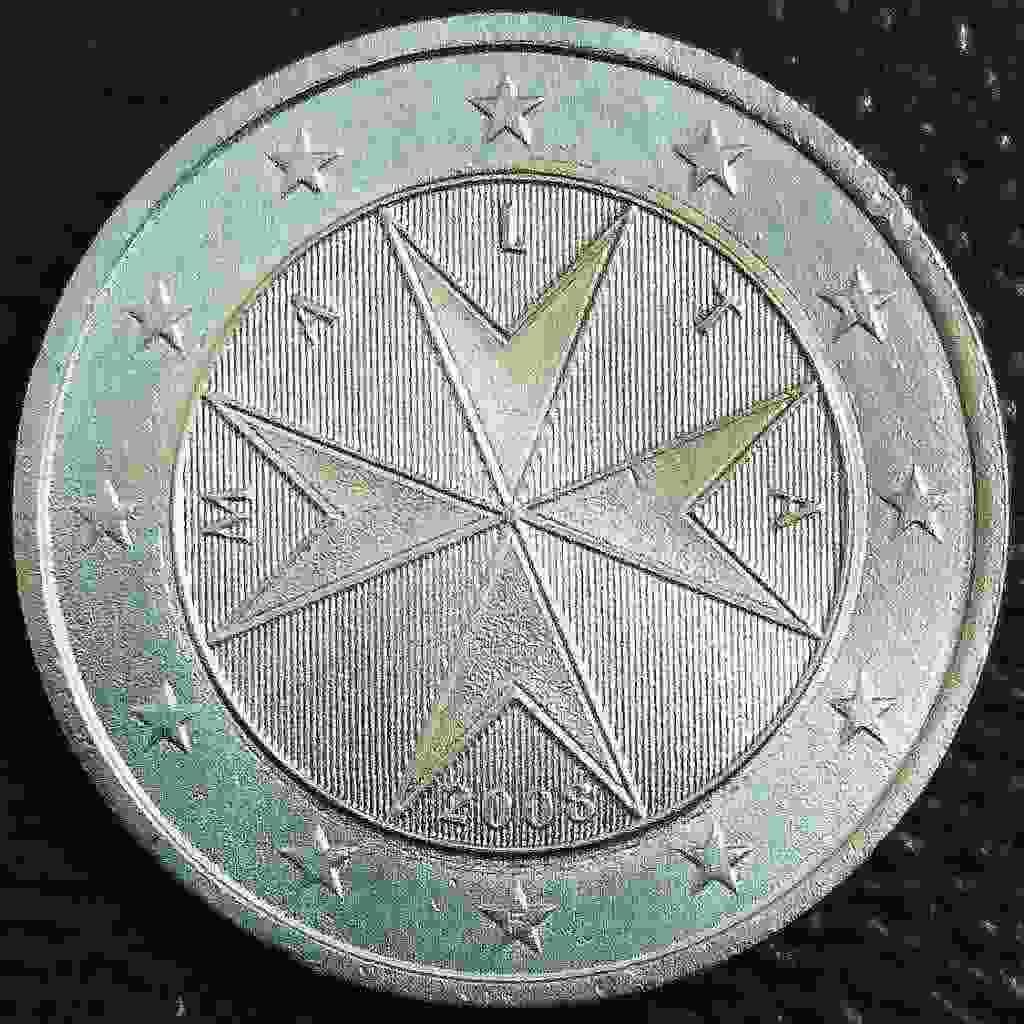 """2 euro Malta &quotCROCE MALTESE"""" 2008"""