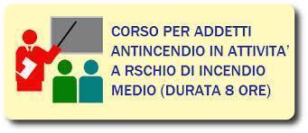 Corso ADDETTO ANTINCENDIO RISCHIO MEDIO