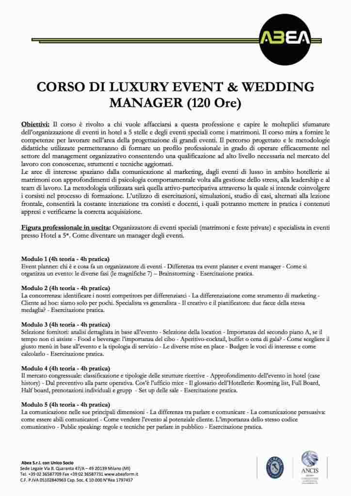 LUXURY EVENT & WEDDING MANAGER