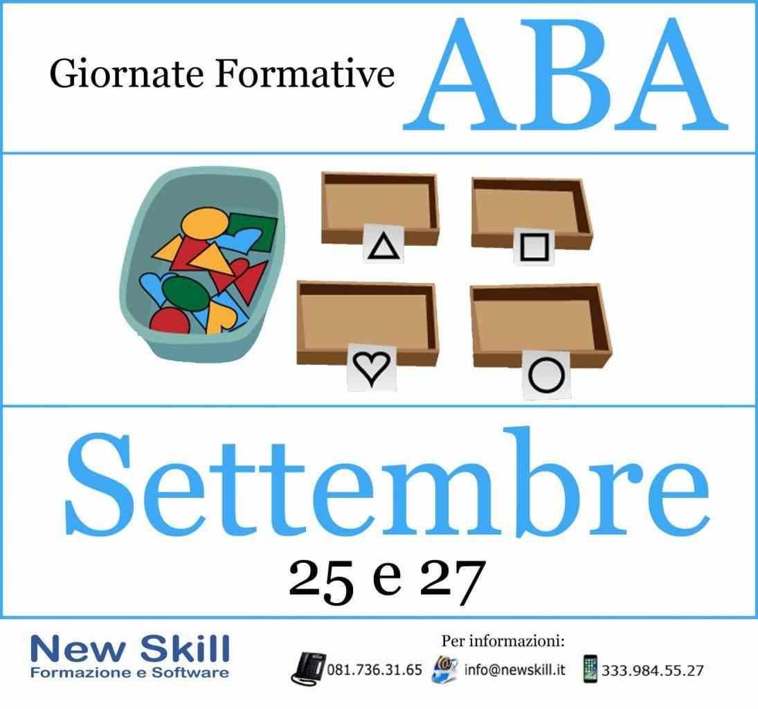 Giornate Formative ABA - 25 e 27 Settembre 2018
