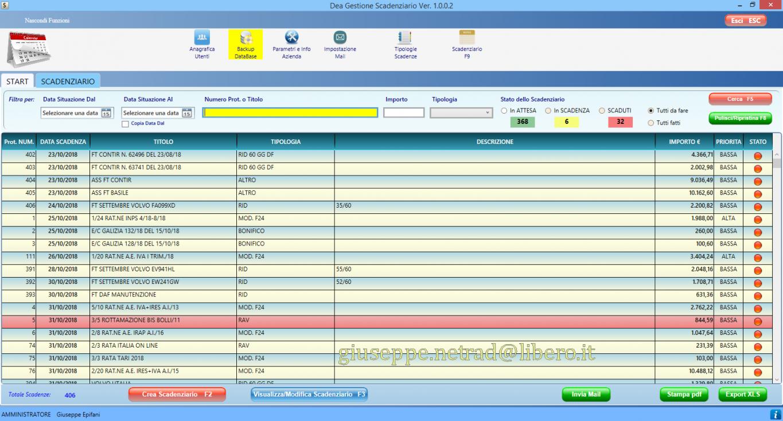 Software gestionale scadenzario (aziendale, ufficio, personale)