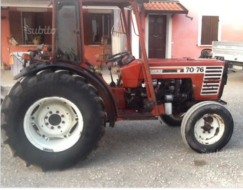 trattore fiat 70-66  con rimorchio