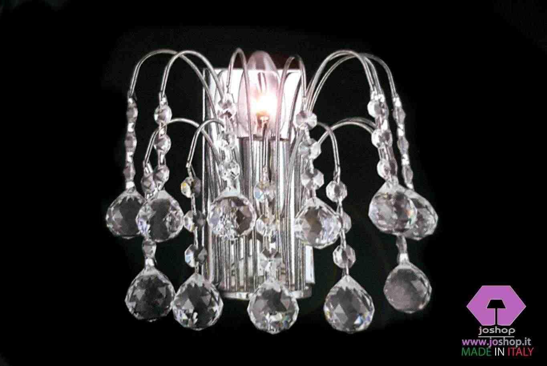 joshop applique moderno 1 luce sfere cristallo purissimo new sfere nuovo