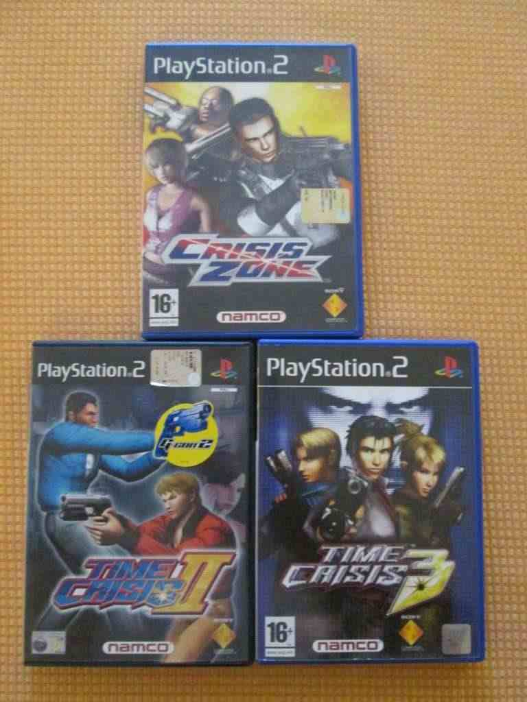 time crisis 2-3 crisis zone playstation 2 ps2 sony pal ita