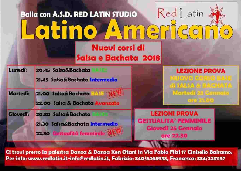Corsi di latino americano Salsa & Bachata e Gestulità femminile.