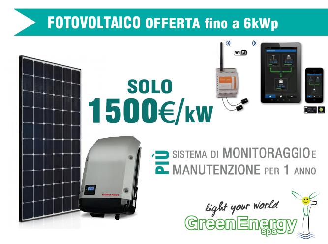 Offerta Fotovoltaico fino a 6 kWp
