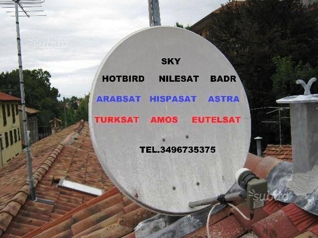 Antennista SKY,NILESAT,TURKSAT,ASTRA...