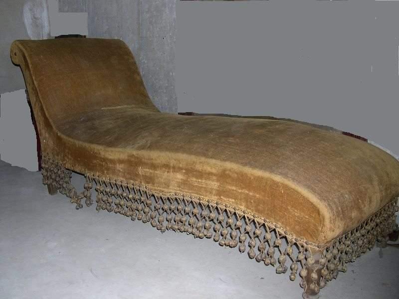 divano dormeuse antico Luigi Filippo Liberty, chaise longue antica
