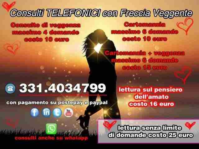 CARTOMANZIA E VEGGENZA TELEFONICA