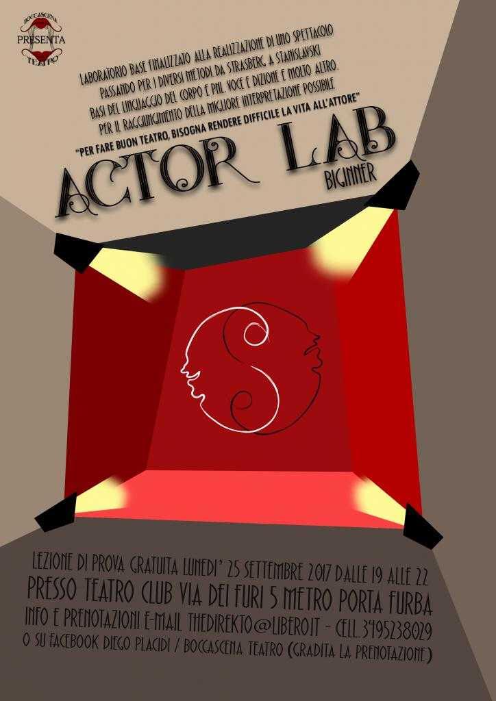 ACTOR LAB laboratorio finalizzato alla realizzazione di uno spettacolo