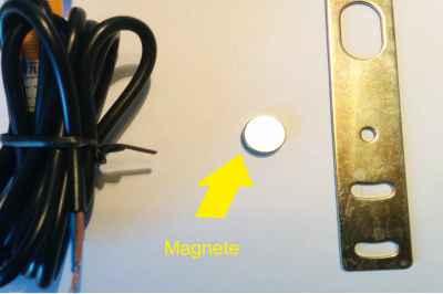 Conta pezzi con sensore magnetico e reset Pila interna sostituibile. conta impulsi