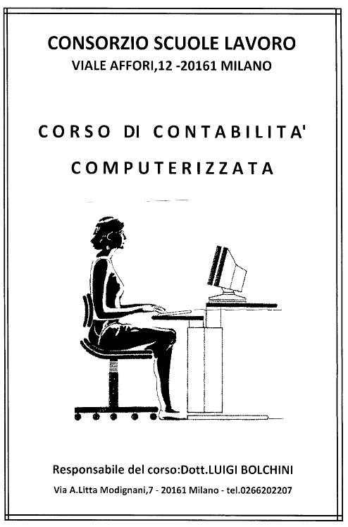 CORSI/LEZIONI DI CONTABILITA' SU P/C ESPERTO TIENE