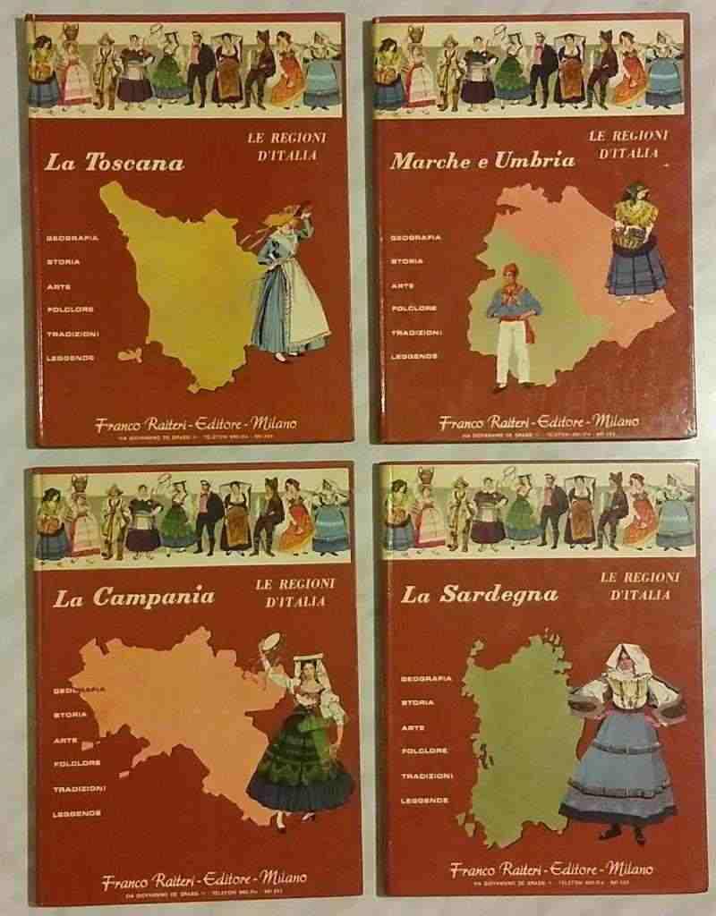 LE REGIONI D'ITALIA:LA SARDEGNA/CAMPANIA/TOSCANA/UMBRIA E MARCHE 1968