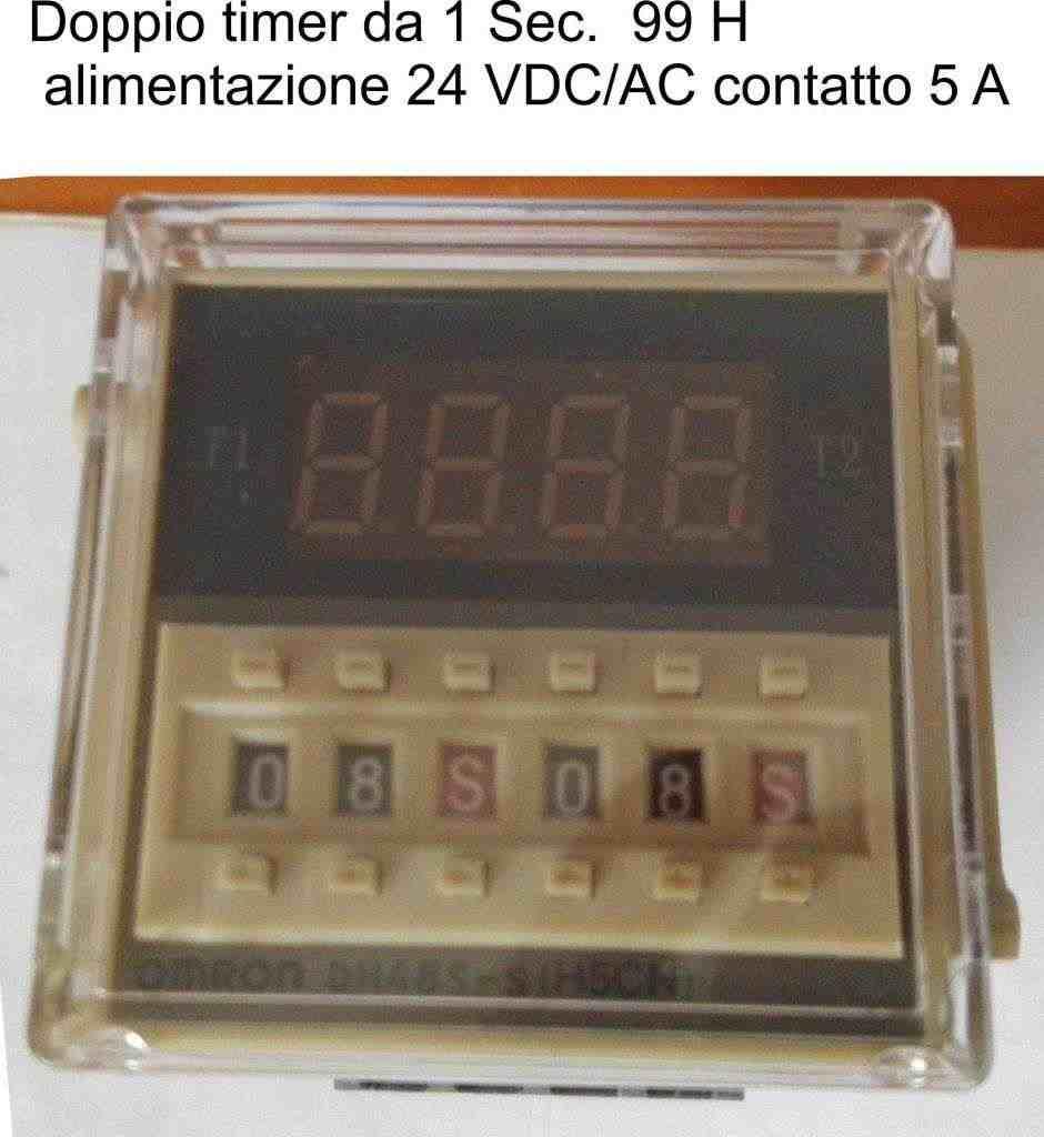 OMRON Temporizzatore Timer PROGRAMMABILE DH48S 24V AC/DC  da 0,1 S a 99 H
