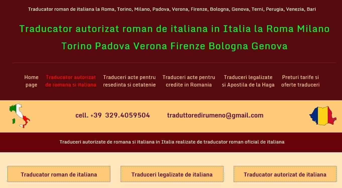 Traduttore ufficiale di rumeno