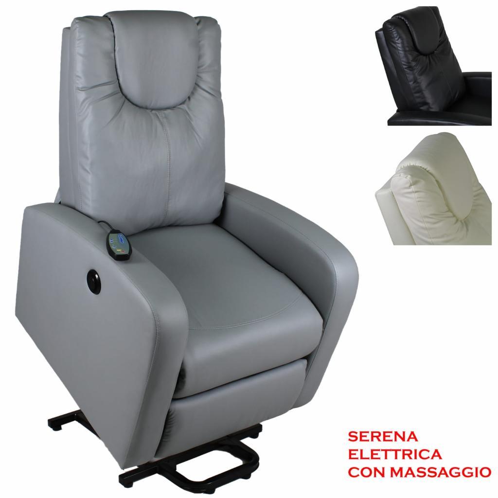 poltrona elettrica con massaggio alzapersone