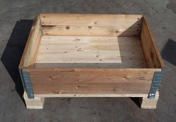 Sponde paretali collari casse in legno per pallets VARIE MISURE