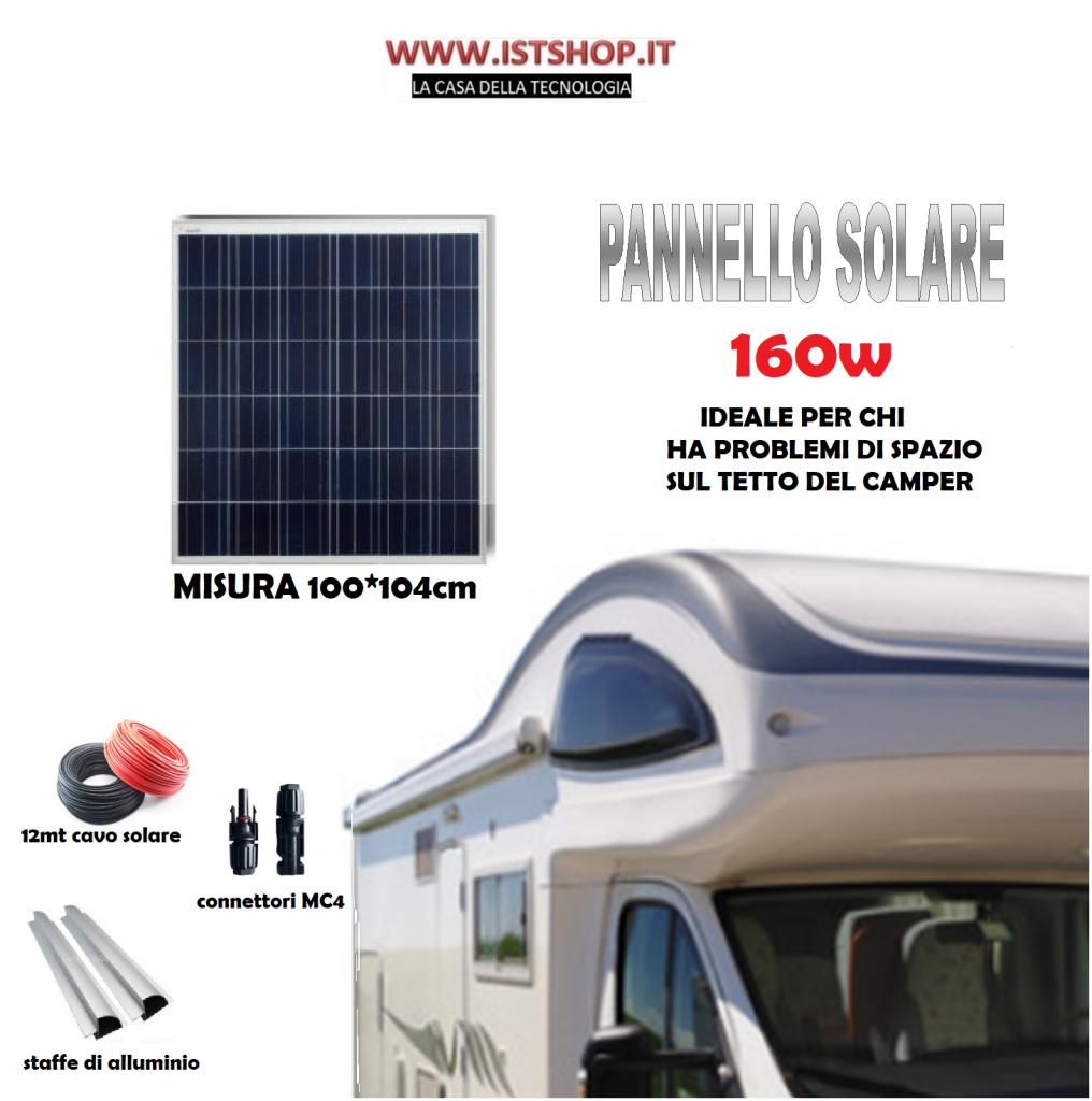 Pannello Solare/Fotovoltaico 160W ideale per camper