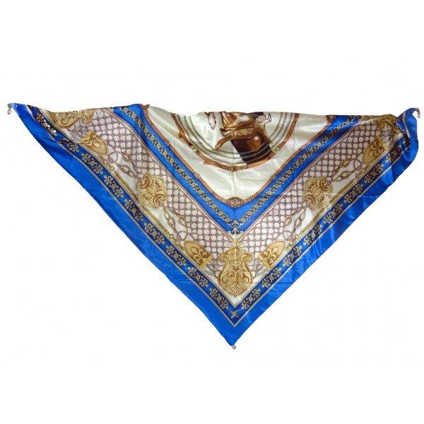 Foulard Pieffe Design con pietre semipreziose -Colore Blu