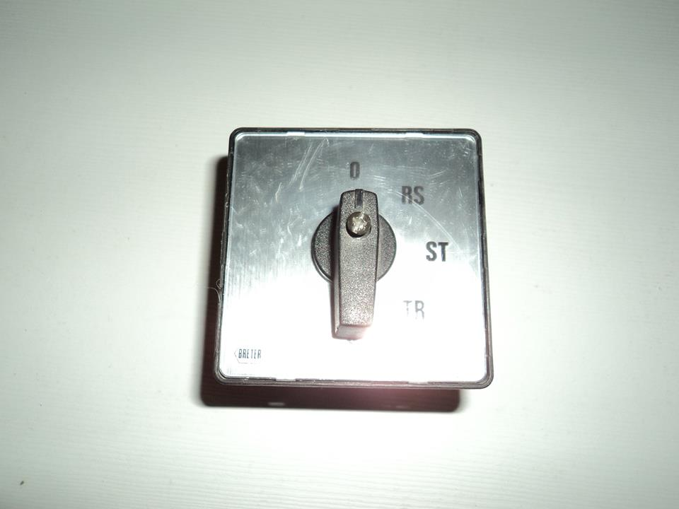 BRETER commutatore trifase 600 volt / 12 A