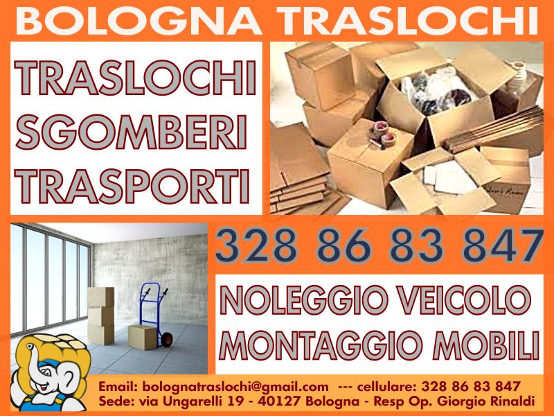 IL TRASLOCO ECONOMICO - LO SGOMBERO GRATIS - BOLOGNA TRASLOCHI
