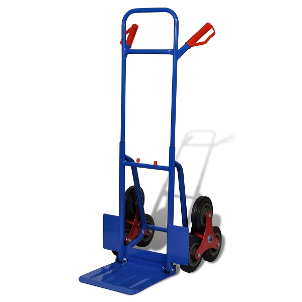 Carrello per scale 6 ruote rosso e blu 200 kg