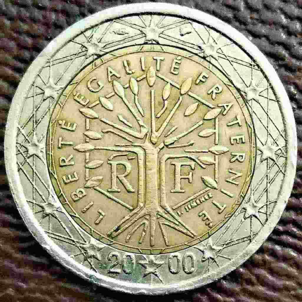 2  euro Francia - 2000 - con errore di CONIO