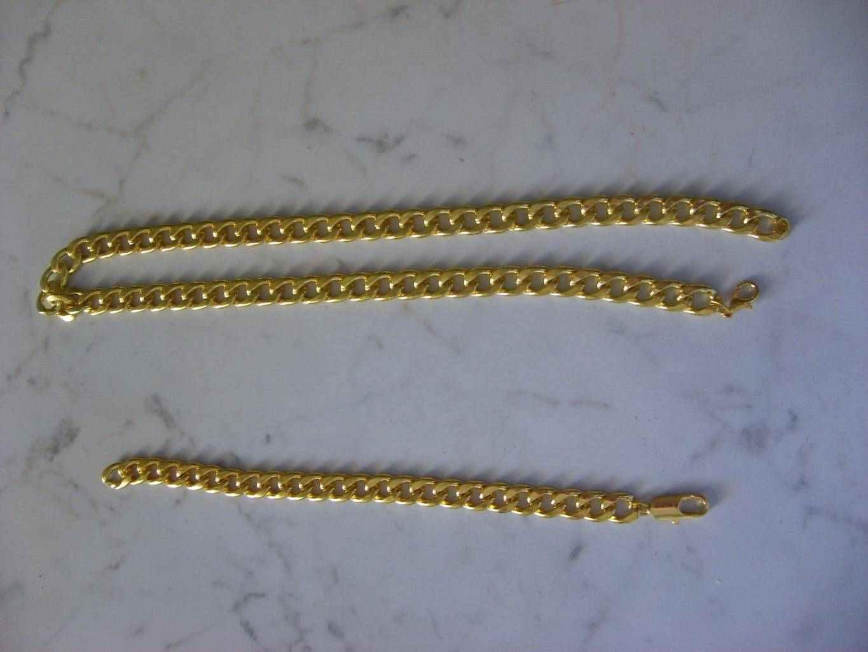 Bracciale e Collana 18K placato oro