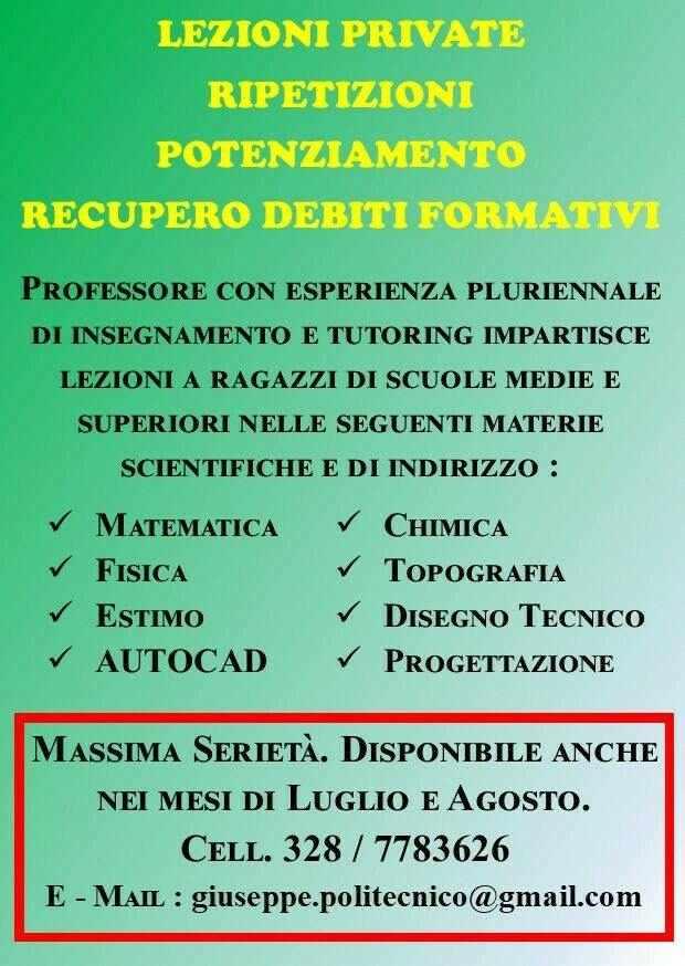 Lezioni Private - Ripetizioni - Recupero Debiti Scolastici - Torino & Dintorni