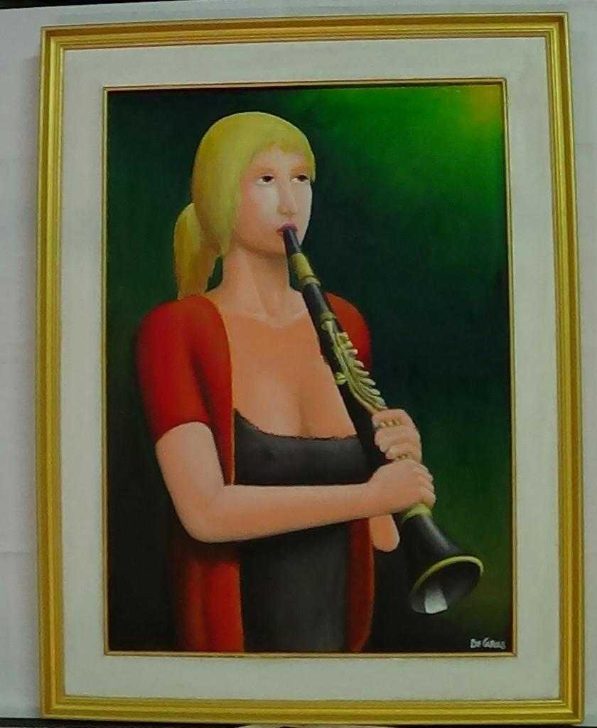 La clarinettista- olio su tela- De Carolis