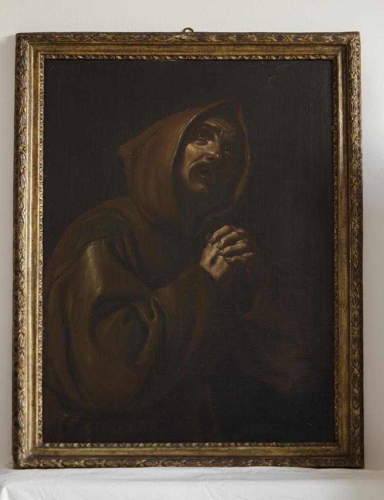 Dipinto Antico. San Francesco orante, seconda metà XVII secolo