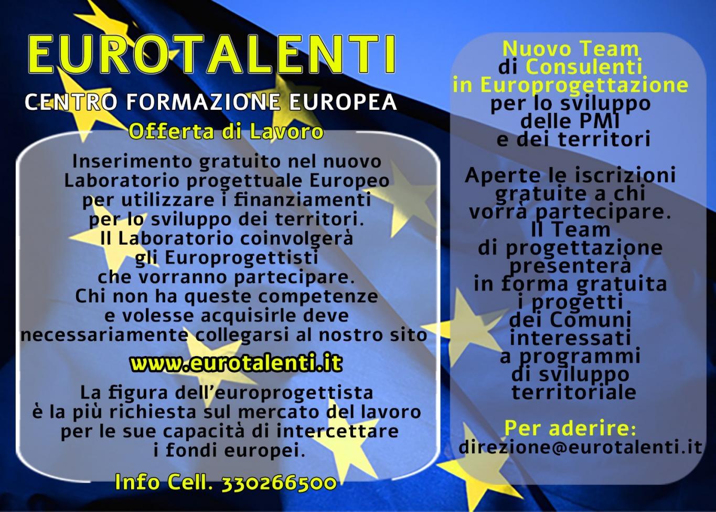 #Europrogettista europeo #LAVORO IMMEDIATO