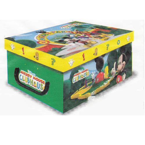 Stock 5 scatole per la casa mini box Mickey Mouse Clubhouse – 32x23x14cm – Topolino, Pippo, Paperino